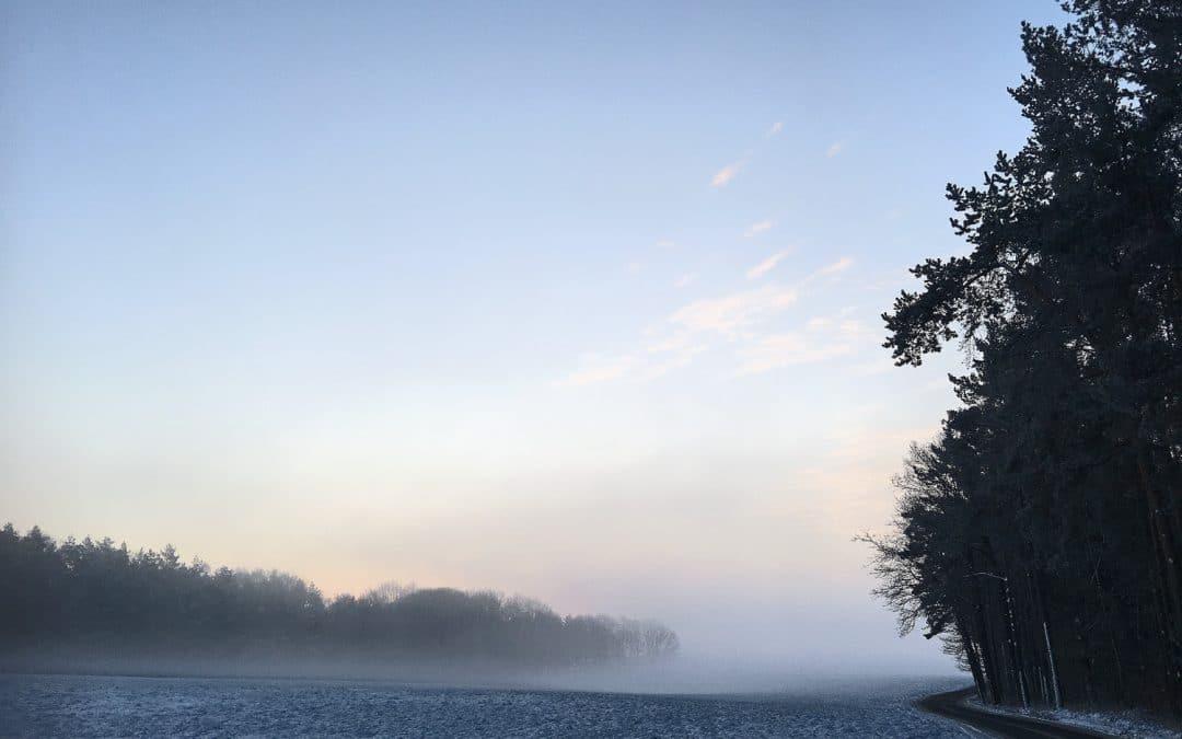 Pastellfarbene Morgenstimmung