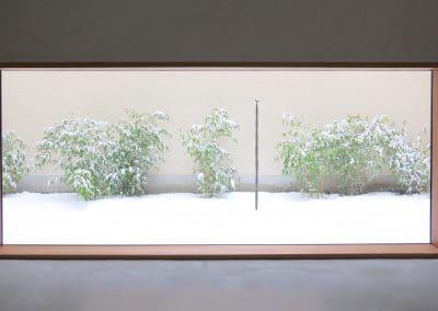 Artist House Leiko Ikemura garden window atelier Ikemura- Sculpture _Vogelsäule - Bird Column_, Bronze, L. Ikemura, 2011, © PhvM, photo- Anita Back (1)