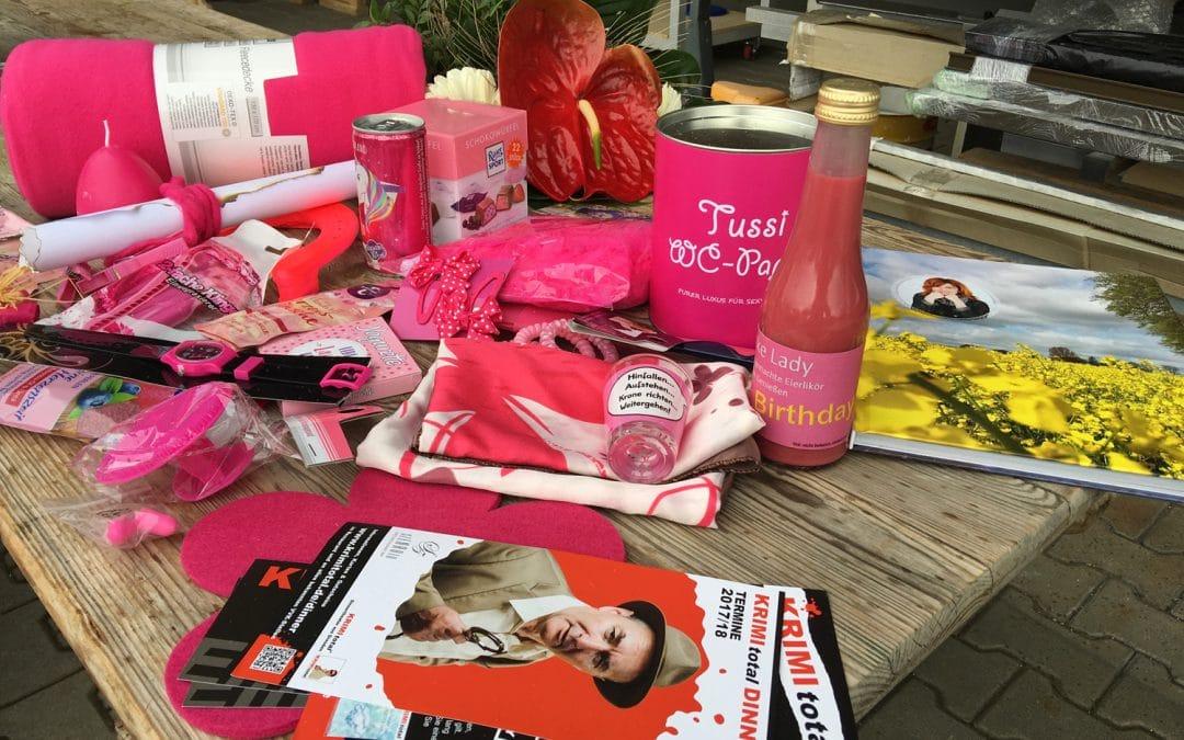 Überraschung in Pink